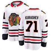 Fanatics Branded Chicago Blackhawks 71 Philipp Kurashev White ized Breakaway Away Men's NHL Jersey