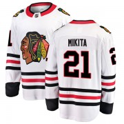 Fanatics Branded Chicago Blackhawks 21 Stan Mikita White Breakaway Away Men's NHL Jersey