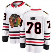 Fanatics Branded Chicago Blackhawks 78 Nathan Noel White Breakaway Away Men's NHL Jersey