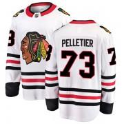 Fanatics Branded Chicago Blackhawks 73 Will Pelletier White Breakaway Away Men's NHL Jersey