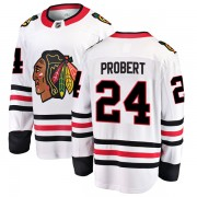 Fanatics Branded Chicago Blackhawks 24 Bob Probert White Breakaway Away Men's NHL Jersey