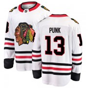 Fanatics Branded Chicago Blackhawks 13 CM Punk White Breakaway Away Men's NHL Jersey