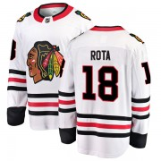 Fanatics Branded Chicago Blackhawks 18 Darcy Rota White Breakaway Away Men's NHL Jersey