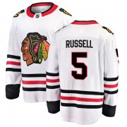 Fanatics Branded Chicago Blackhawks 5 Phil Russell White Breakaway Away Men's NHL Jersey