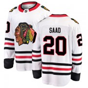 Fanatics Branded Chicago Blackhawks 20 Brandon Saad White Breakaway Away Men's NHL Jersey