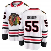 Fanatics Branded Chicago Blackhawks 55 Nick Seeler White Breakaway Away Men's NHL Jersey