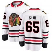 Fanatics Branded Chicago Blackhawks 65 Andrew Shaw White Breakaway Away Men's NHL Jersey