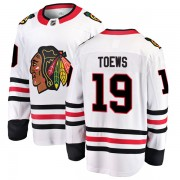 Fanatics Branded Chicago Blackhawks 19 Jonathan Toews White Breakaway Away Men's NHL Jersey