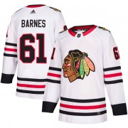 Adidas Chicago Blackhawks 61 Tyler Barnes Authentic White Away Youth NHL Jersey