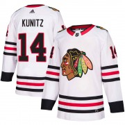 Adidas Chicago Blackhawks 14 Chris Kunitz Authentic White Away Youth NHL Jersey