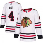 Adidas Chicago Blackhawks 4 Bobby Orr Authentic White Away Youth NHL Jersey