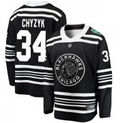 Fanatics Branded Chicago Blackhawks 34 Bryn Chyzyk Black 2019 Winter Classic Breakaway Men's NHL Jersey