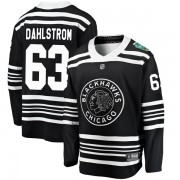 Fanatics Branded Chicago Blackhawks 63 Carl Dahlstrom Black 2019 Winter Classic Breakaway Men's NHL Jersey