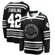 Fanatics Branded Chicago Blackhawks 42 Gustav Forsling Black 2019 Winter Classic Breakaway Men's NHL Jersey