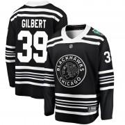 Fanatics Branded Chicago Blackhawks 39 Dennis Gilbert Black 2019 Winter Classic Breakaway Men's NHL Jersey