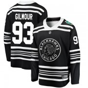 Fanatics Branded Chicago Blackhawks 93 Doug Gilmour Black 2019 Winter Classic Breakaway Men's NHL Jersey