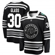 Fanatics Branded Chicago Blackhawks 30 Jeff Glass Black 2019 Winter Classic Breakaway Men's NHL Jersey