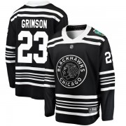 Fanatics Branded Chicago Blackhawks 23 Stu Grimson Black 2019 Winter Classic Breakaway Men's NHL Jersey