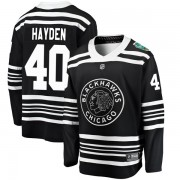 Fanatics Branded Chicago Blackhawks 40 John Hayden Black 2019 Winter Classic Breakaway Men's NHL Jersey