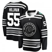 Fanatics Branded Chicago Blackhawks 55 Blake Hillman Black 2019 Winter Classic Breakaway Men's NHL Jersey