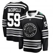 Fanatics Branded Chicago Blackhawks 59 Matt Iacopelli Black 2019 Winter Classic Breakaway Men's NHL Jersey