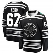 Fanatics Branded Chicago Blackhawks 67 Tanner Kero Black 2019 Winter Classic Breakaway Men's NHL Jersey