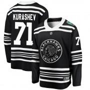 Fanatics Branded Chicago Blackhawks 71 Philipp Kurashev Black ized 2019 Winter Classic Breakaway Men's NHL Jersey