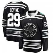 Fanatics Branded Chicago Blackhawks 29 Eric Levine Black 2019 Winter Classic Breakaway Men's NHL Jersey
