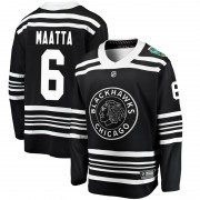 Fanatics Branded Chicago Blackhawks 6 Olli Maatta Black 2019 Winter Classic Breakaway Men's NHL Jersey