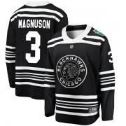 Fanatics Branded Chicago Blackhawks 3 Keith Magnuson Black 2019 Winter Classic Breakaway Men's NHL Jersey