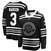 Fanatics Branded Chicago Blackhawks 3 Dave Manson Black 2019 Winter Classic Breakaway Men's NHL Jersey