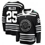 Fanatics Branded Chicago Blackhawks 25 Drew Miller Black 2019 Winter Classic Breakaway Men's NHL Jersey