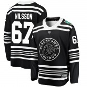 Fanatics Branded Chicago Blackhawks 67 Jacob Nilsson Black 2019 Winter Classic Breakaway Men's NHL Jersey