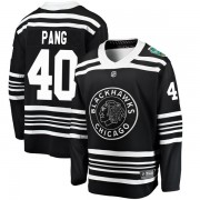 Fanatics Branded Chicago Blackhawks 40 Darren Pang Black 2019 Winter Classic Breakaway Men's NHL Jersey