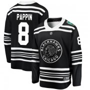 Fanatics Branded Chicago Blackhawks 8 Jim Pappin Black 2019 Winter Classic Breakaway Men's NHL Jersey