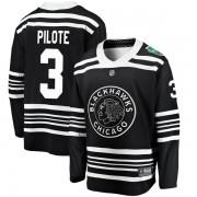 Fanatics Branded Chicago Blackhawks 3 Pierre Pilote Black 2019 Winter Classic Breakaway Men's NHL Jersey