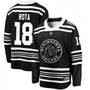 Fanatics Branded Chicago Blackhawks 18 Darcy Rota Black 2019 Winter Classic Breakaway Men's NHL Jersey