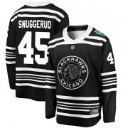 Fanatics Branded Chicago Blackhawks 45 Luc Snuggerud Black 2019 Winter Classic Breakaway Men's NHL Jersey