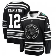 Fanatics Branded Chicago Blackhawks 12 Pat Stapleton Black 2019 Winter Classic Breakaway Men's NHL Jersey