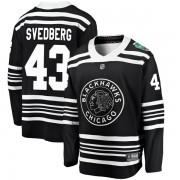 Fanatics Branded Chicago Blackhawks 43 Viktor Svedberg Black 2019 Winter Classic Breakaway Men's NHL Jersey