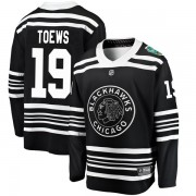 Fanatics Branded Chicago Blackhawks 19 Jonathan Toews Black 2019 Winter Classic Breakaway Men's NHL Jersey
