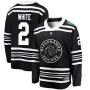 Fanatics Branded Chicago Blackhawks 2 Bill White White Black 2019 Winter Classic Breakaway Men's NHL Jersey