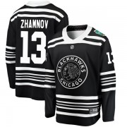 Fanatics Branded Chicago Blackhawks 13 Alex Zhamnov Black 2019 Winter Classic Breakaway Men's NHL Jersey
