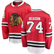 Fanatics Branded Chicago Blackhawks 74 Nicolas Beaudin Red ized Breakaway Home Youth NHL Jersey
