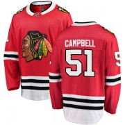 Fanatics Branded Chicago Blackhawks 51 Brian Campbell Red Breakaway Home Youth NHL Jersey