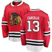 Fanatics Branded Chicago Blackhawks 13 Daniel Carcillo Red Breakaway Home Youth NHL Jersey
