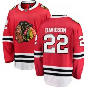 Fanatics Branded Chicago Blackhawks 22 Brandon Davidson Red Breakaway Home Youth NHL Jersey