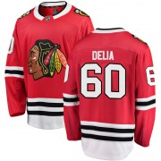 Fanatics Branded Chicago Blackhawks 60 Collin Delia Red Breakaway Home Youth NHL Jersey