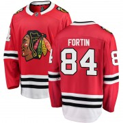 Fanatics Branded Chicago Blackhawks 84 Alexandre Fortin Red Breakaway Home Youth NHL Jersey