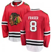 Fanatics Branded Chicago Blackhawks 8 Curt Fraser Red Breakaway Home Youth NHL Jersey
